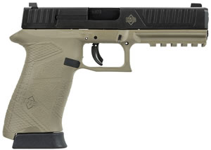 Diamondback DB9FS Pistol DB9FSFDE, 9mm, 4.8 in BBL, DOA, Integral Grips, 3-Dot Fixed Sights, FDE/Black Finish, 15+1 Rds