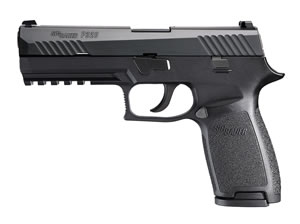 Sig Sauer P320 FullSize Pistol 320F40B, 40 S&W, 4.7 inch BBL, DoubleAction Striker, Intg Polymer Grips, Contrast Sights, Nitron Black Finish, 14+1 Rds