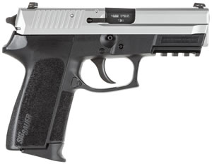 Sig Sauer SP2022 TwoTone Pistol E20229TSS, 9mm, 3.9 inch BBL, Single/Double, Polymer Grips, Night Sights, Two Tone Finish, 15+1 Rds