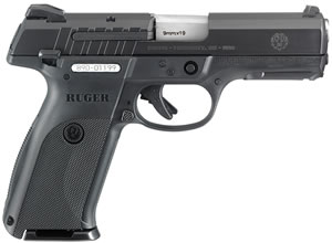 Ruger Model SR9E Pistol 3340, 9mm, 4.1 inch BBL, Double Act, Black Polymer Grips, 3-Dot Fixed Sights, Black Finish, 17+1 Rds