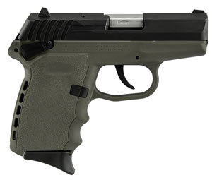 SCCY CPX-1 Pistol CPX1CBDE, 9mm, 3.1 inch BBL, Double Act, Integral Grips, 3-Dot Adj Rear Sights, Black/FDE Finish, 10+1 Rds