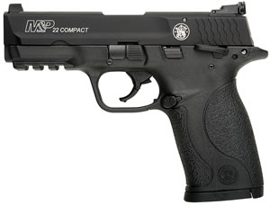 Smith & Wesson M&P 22 Pistol 108390, 22 LR, 3.6 inch BBL, Single Act, Black Polymer Grips, White Dot Front, Windage Adj Rear Sights, Black Finish, 10+1 Rds