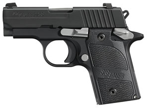 Sig Sauer P238 Nightmare Pistol 238380NMR, 380 ACP, 2.7 inch BBL, Single/Double, Black G10 Grips, Night Sights, Nitron Finish, 6+1 Rds