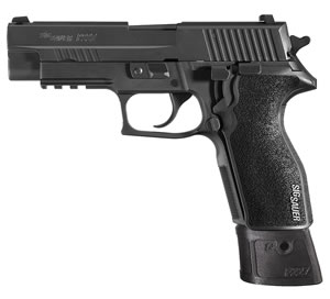Sig Sauer P227 Tacops Pistol E27R45TACOPSE, 45 ACP, 4.4 inch BBL, Single/Double, Black G10 Grips, Truglo Front, Siglite Rear Sights, Black Nitron Finish, 14+1 Rds
