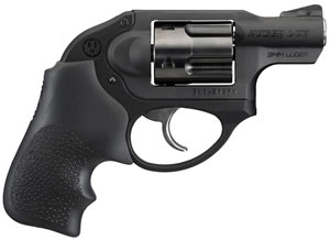 "Ruger 5456 LCR Standard Revolver, 9mm, 1.9"" BBL, Double Act, Hogue Tamer Monogrip, Pinned Ramp Front, U-Notch Integral Rear Sights, Black Stainless Finish, 5 Rds"