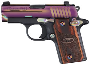 "Sig Sauer 238M380RBT P238 Rainbow Pistol, 380 ACP, 2.7"" BBL, Single Act, Siglite Night, Contrast Sights, 6+1 Rds, MA Approved"