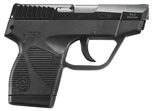 "Taurus 1738031WGS PT 738 TCP Pistol, 380 ACP, 2.8"" BBL, Double Act, Integral Grips, Low Profile Fixed Sights, Blued Finish, 6+1 Rds, w/Wings"
