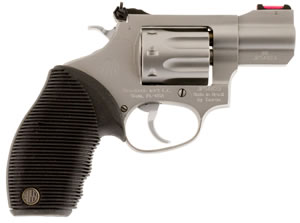 "Rossi R99202 R99 Revolver, 22 WMR, 2"" BBL, Single/Dbl Act, Black Ribber Grips, Fib Opt Sights, Stainless Finish, 8 Rds"