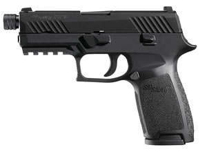 Sig Sauer P320 Compact Pistol 320CA-9-BSS-TB, 9mm, 3.9 inch Threaded BBL, DoubleAction Striker, Intg Polymer Grips, Night Sights, Nitron Black Finish, 15+1 Rds