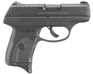 "Ruger 3248 LC9S Pro Pistol, 9mm, 3.1"" BBL, Double Act, Integral Grips, 3-Dot Adj Sights, Black Finish, 7+1 Rds"