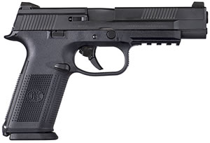 "FN Herstal 66704 FNS 40 Longslide Pistol, 40 S&W, 5"" BBL, Double Act, Black Polymer Grips, 3-Dot Sights, Black Finish, 10+1 Rds"
