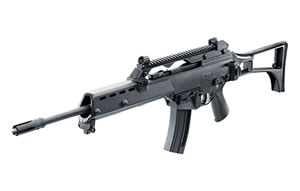 "Walther HK G36 Replica Rifle 5730300, 22 Long Rifle, 18.1"" BBL, Semi Auto, Folding Black Stock, Black Finish, 25+1 Rds"