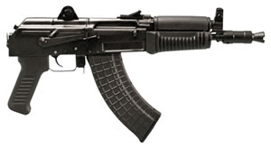 "Arsenal SAM7K-01 SAM7 Pistol, 7.62X39, 10.5"" BBL, Semi Auto, Black Syn Grips, Peep Rear Sights, Black Finish, 5+1 Rds"