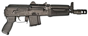 "Arsenal SLR106-58 SLR-106 Pistol, 5.56 NATO, 8.5"" BBL, Semi Auto, Black Syn Grips, Adj 500m Rear Sights, Black Finish, 20+1 Rds, Quad Rail"