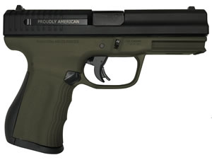 "FMK G40C1OD 40C1 Compact Pistol Pistol, 40 S&W, 4"" BBL, Single/Double Act, Olive Drab Finish, 10+1 Rds"