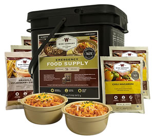 Wise Foods 01156 Grab and Go Bucket 56 Serving Breakfast and Entree