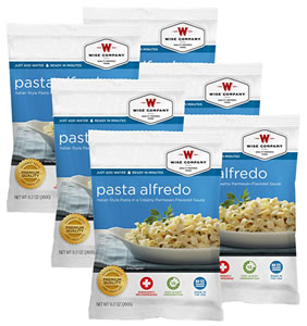 Wise Foods 2W02206 Outdoor Food Packs 6 Ct/4 Servings Pasta Alfredo