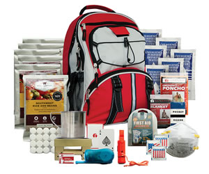 Wise Foods 01621GSG Emergency Five Day Survival Backpack Red 32 Servings