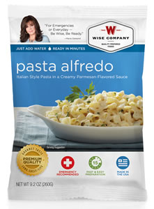 Wise Foods 05206 Outdoor Camping Pouch Pasta Alfredo 6 Count