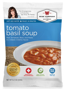 Wise Foods 05210 Outdoor Camping Pouch Tomato and Pasta Soup 6 Count