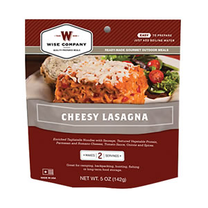 Wise Foods 05201 Outdoor Camping Pouch Cheesy Lasagna 6 Count