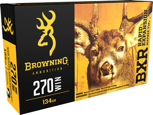 Browning Ammo B192102701 BXR Rapid Expansion 270 Winchester 134 GR Matrix Tip 20 Bx/ 10 Cs