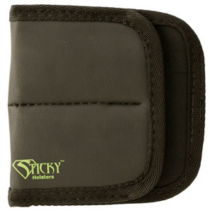 Sticky Holsters DSMP Dual Mag Pouch Black w/Green Logo Latex Free Synthetic Rubber