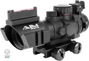 Aim Sports JTDF0432G Recon 4x 32mm Obj 36.6 ft @ 100 yds FOV 30mm Tube Dia Black Matte Illuminated Rapid Ranging