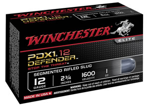 "Winchester Ammo S12PDX1S Elite PDX1 Defender 12 Gauge 2.75"" 1 oz 3 - 150 Grain Pieces Shot 10 Bx/ 10 Cs"
