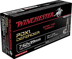 Winchester Ammo S76239PDB Personal Defense Expandable Defender 7.62X39mm 120 GR  20 Bx/ 10 Cs