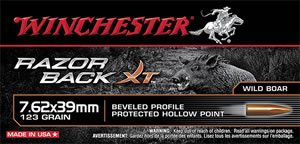 Winchester Ammo S76239WB Razorback 7.62X39mm 150 GR Hollow Point 20 Bx/ 10 Cs