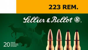 Sellier & Bellot SB223A Rifle Training 223 Remington/5.56 NATO 55 GR FMJ 20 Bx/ 50 Cs