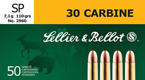 Sellier & Bellot SB30B Rifle 30 Carbine 110 GR Soft Point 50 Bx/ 20 Cs