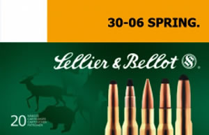 Sellier & Bellot SB3006E Rifle Hunting 30-06 Springfield 180 GR SPCE (Soft Point Cut-Through Edge) 20 Bx/ 20 Cs