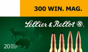 Sellier & Bellot SB300B Rifle Hunting 300 Win Mag 180 GR SPCE (Soft Point Cut-Through Edge) 20 Bx/ 20 Cs