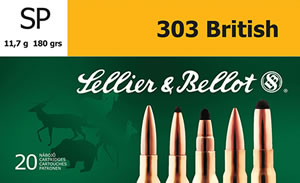 Sellier & Bellot SB303C Rifle 303 British 180 GR Soft Point 20 Bx/ 20 Cs