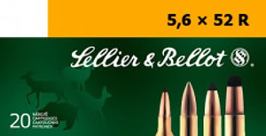 Sellier & Bellot SB5652RB Rifle Training 5.6mmX52R 70 GR FMJ 20 Bx/ 25 Cs