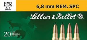 Sellier & Bellot SB68C Rifle Training 6.8mm Remington SPC 110 GR FMJ 20 Bx/ 50 Cs