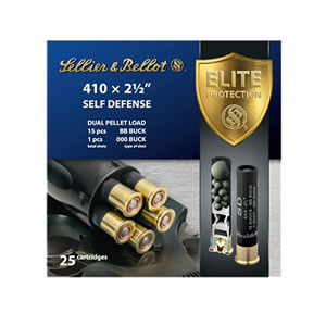"Sellier & Bellot SB410SDA Shotgun 410 Ga 2.5"" Lead 15 Pellets 000 Buck 25 Bx/ 20 Cs"