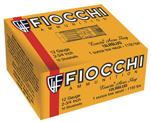 "Fiocchi 12FLESLUG Rifled Slug 12 Gauge 2.75"" 7/8 oz Slug Shot 80 Bx/ 1 Cs"