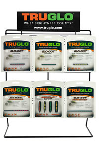 Truglo TG101P1 Universal Shotgun Sight #1 Display w/Product 21 Sights Counter Top
