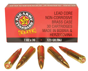 Red Army Standard AM1930 7.62x39mm 123 GR Full Metal Jacket 30Box/36Case