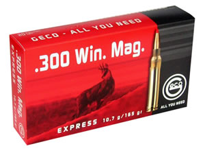 GECO 280840020 300 Winchester Magnum Geco Express 165gr 20Box/10Case