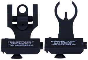 Troy Ind SSIG45SHRBT 45 Degree Folding BattleSights HK Front and Round Rear Blk