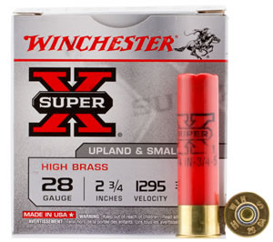 "Winchester Ammo X285 Super-X High Brass Game 28 Gauge 2.75"" 3/4 oz 5 Shot 25 Bx/ 10 Cs"