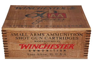 "Winchester Ammo AA128WB AA 12 Gauge Wood Box 2.75"" 1-1/8 oz 8 Shot 250 Bx/ 10 Cs"