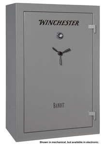 Winchester Bandit 31 Gun Safe B6040F13110E, Elec Lock, Gray Finish, Free Shipping w/Curbside Delivery, 7-10 Day Lead time