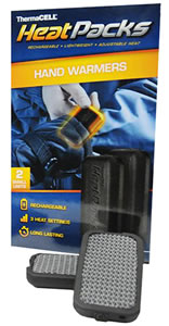 "Thermacell PAK-S Heat Packs Hand Warmers 2.9""x1.6""x.45"" 2 Pack Black"
