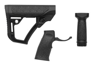 Daniel Defense 281020614500 Collapsible Buttstock AR-15 Glass Reinforced Polymer Black