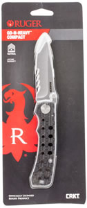 "Columbia River R1804C Go-N-Heavy Folder 3.5"" 8C13MoV Drop Point Hard Anodized Sure Grip"
